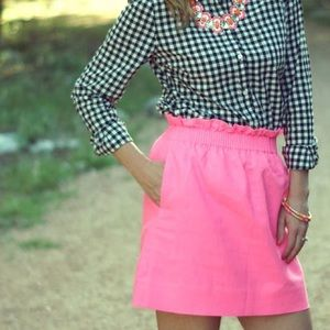 J. Crew City Mini Skirt in Pink Linen